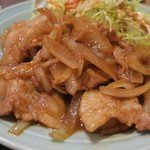豚バラ肉生姜焼き